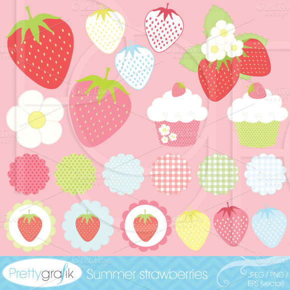 21 Summer Strawberry Clipart