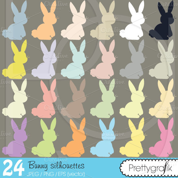Bunny Rabbit Clipart Commercial Use