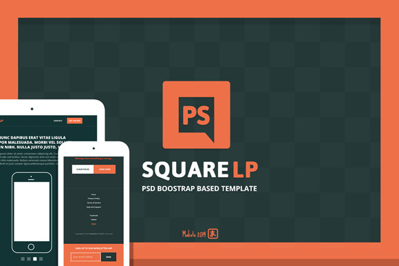Square PSD Boostrap Based Template