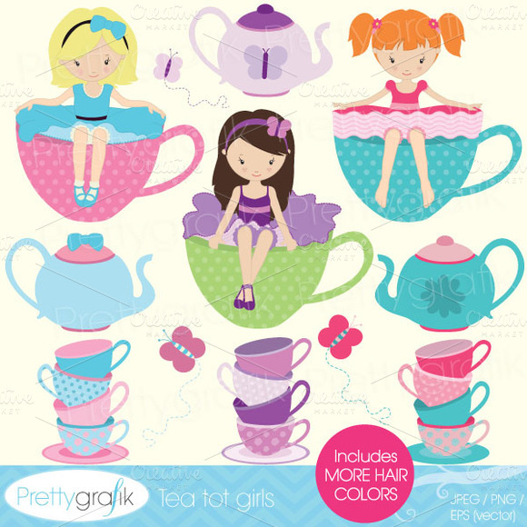 Tea Party Clipart For Scrapbooking