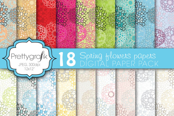 Flower Digital Paper Commercial Use