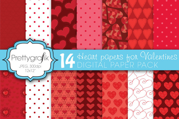 Valentine Heart Digital Paper