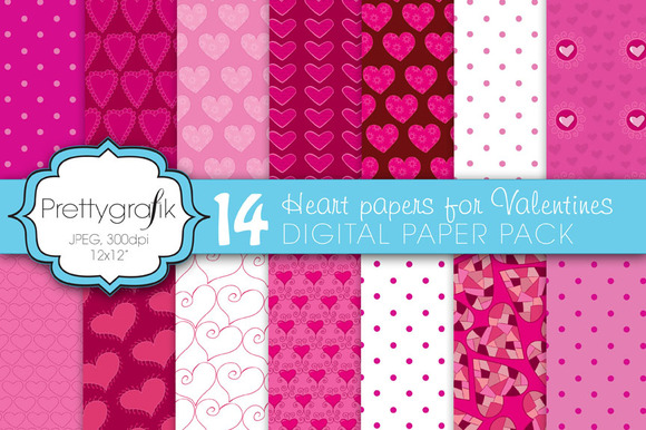 Valentine Heart Digital Paper