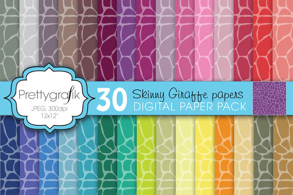 Giraffe Animal Print Digital Paper