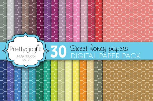 Honeycomb Hexagonal Digital Paper