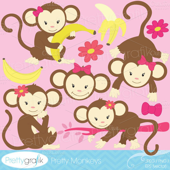 Monkey Clipart Commercial Use