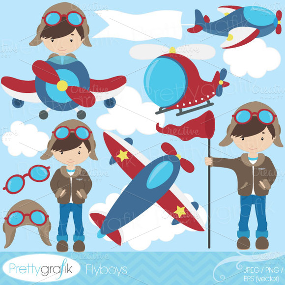 Airplane Pilot Clipart Commercial