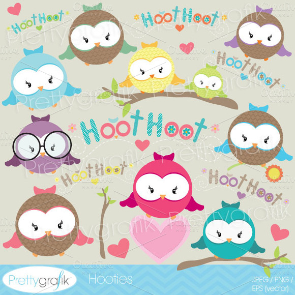 Owl Clipart Commercial Use