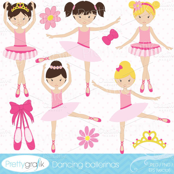 Ballerina Clipart Commercial Use