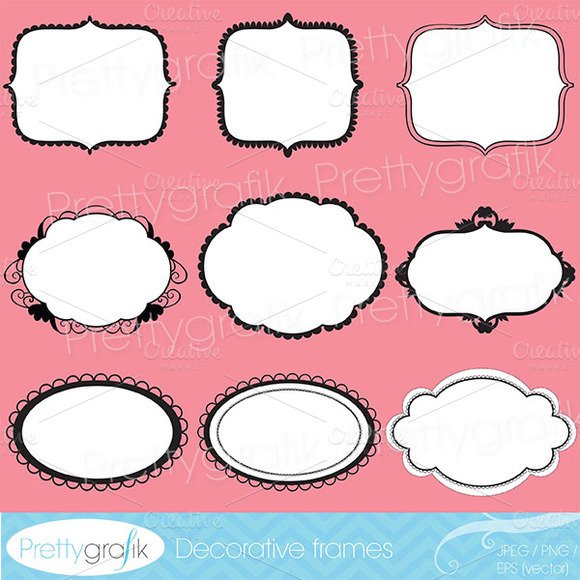 Label Frames Clipart Commercial Use