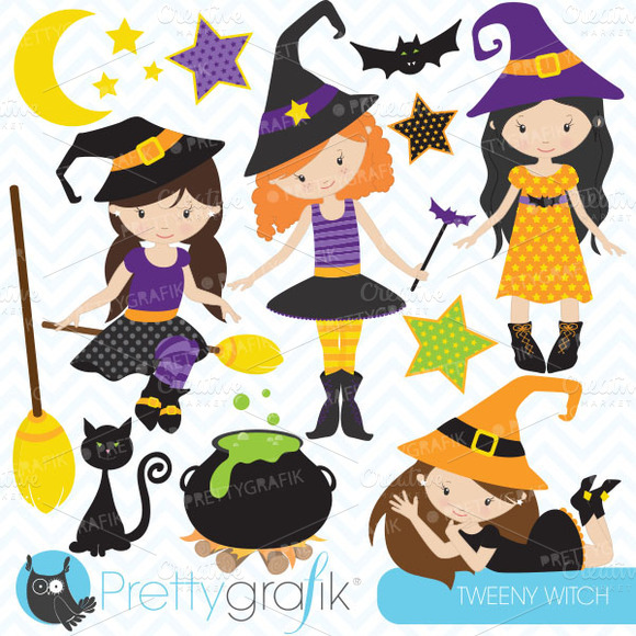 Halloween Witches Clipart Commercial