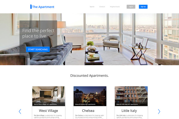 The Apartment PSD Website Template