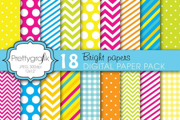 Bright Colors Digital Paper