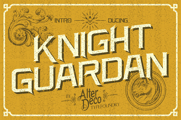 Knight Guardan Font BONUS