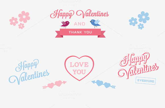 Valentines Day Labels And Elements 1