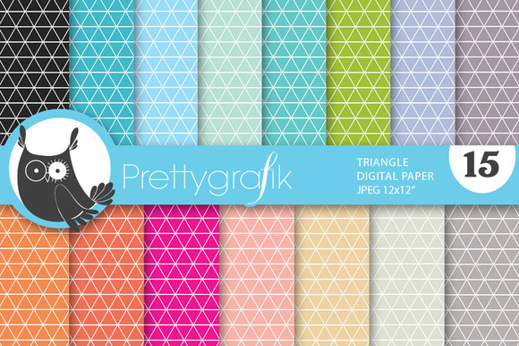 Triangle Geometric Digital Paper