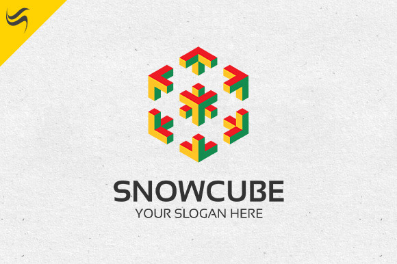 Snow Cube Logo Template