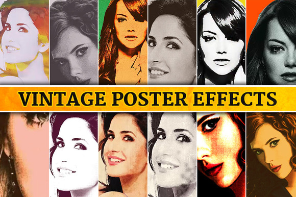 Vintage Poster Effects