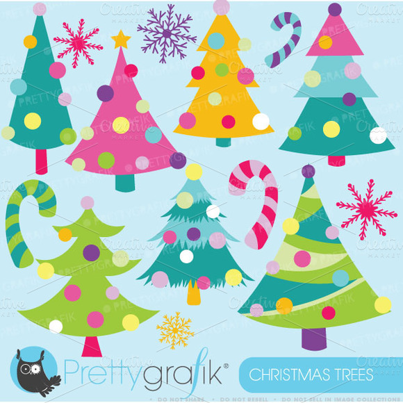 Christmas Trees Clipart Commercial
