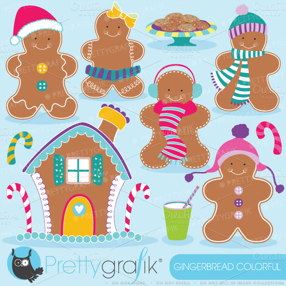 Gingerbread Man Clipart Commercial