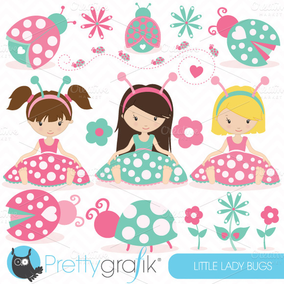 Pink Ladybug Clipart Commercial Use