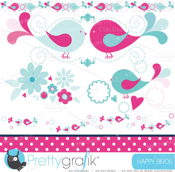 Bird Tweets Clipart Commercial Use