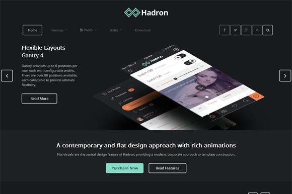 Hadron Responsive Joomla Template
