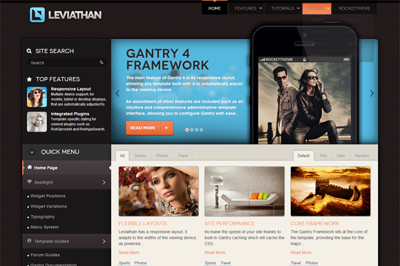 Leviathan Wordpress Theme