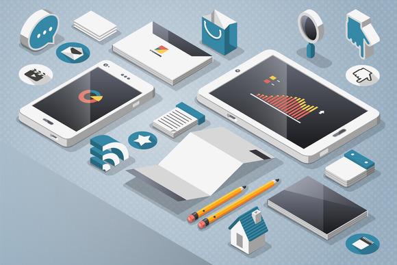 Vector Smartphone Tablet Elemets