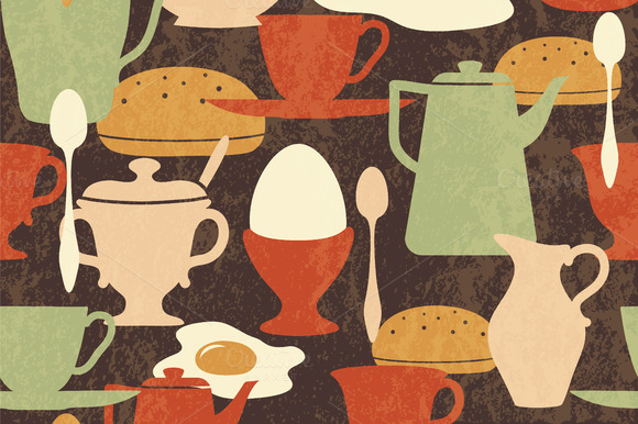 Vintage Breakfast Pattern