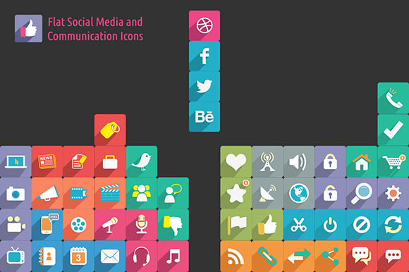 Social Media Communication Icons