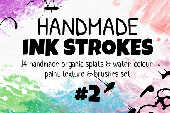 Handmade INK STROKES Pack 14 #2