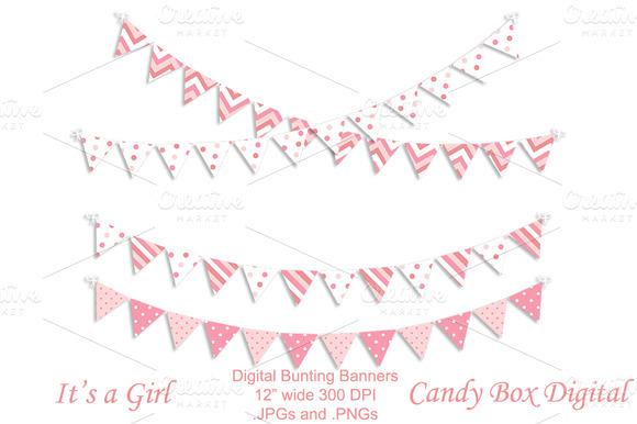 Baby Girl Digital Bunting Garland