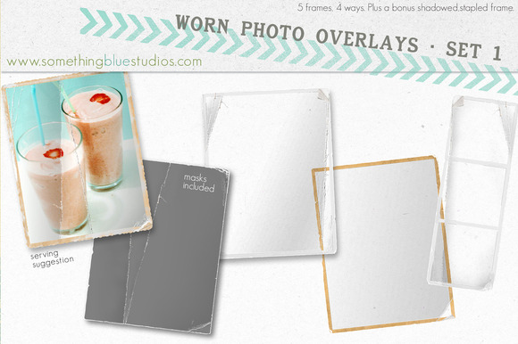 Worn Photo Overlays Set 1