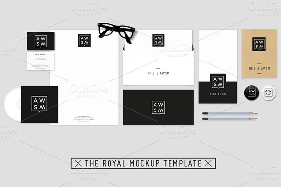 The Royal Stationary Mockup