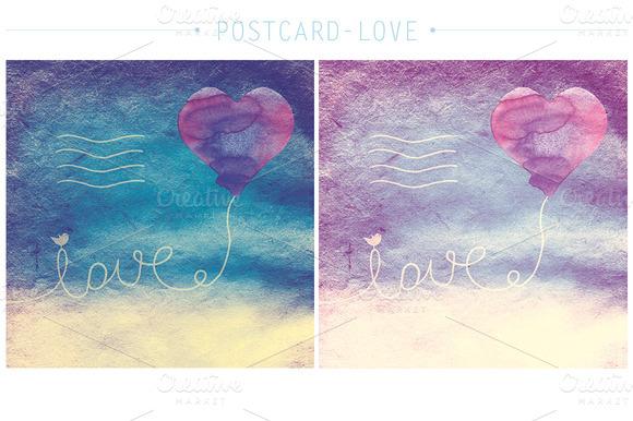 Postcard-love