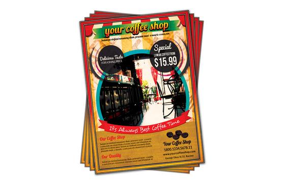 Retro Coffe Shop Flyer