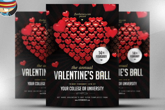 Valentine S Ball Flyer Template
