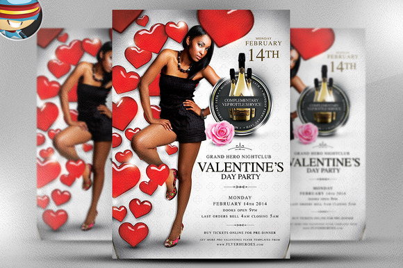 Valentine S Day Party Flyer Template