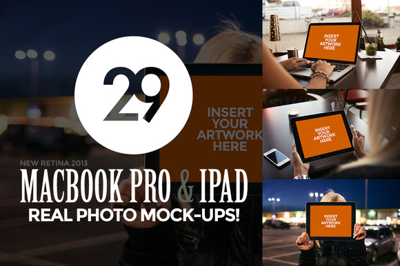 29 MacBook And IPad Photo Mock-Ups