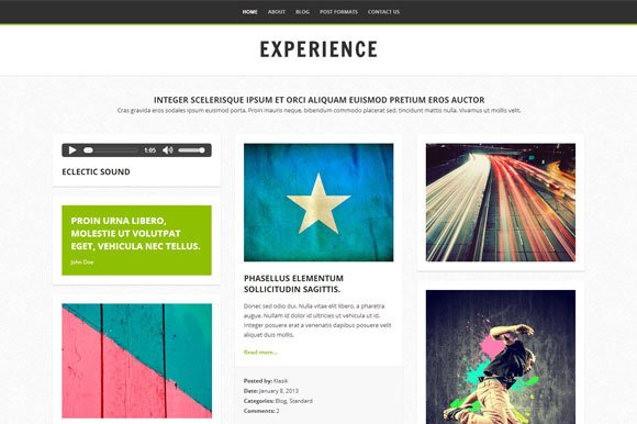 Experience Blog WordPress Theme