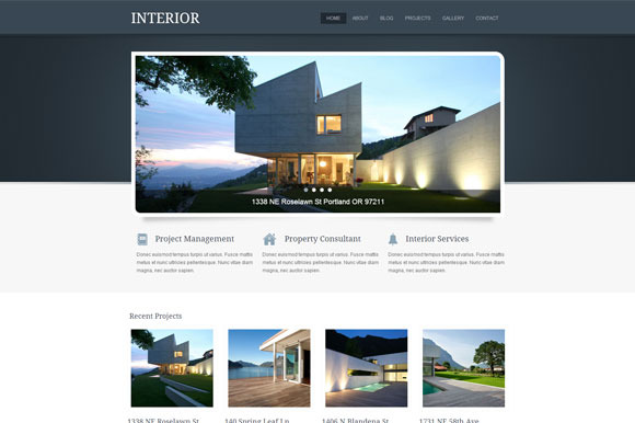 Interior RealEstate WordPress Theme
