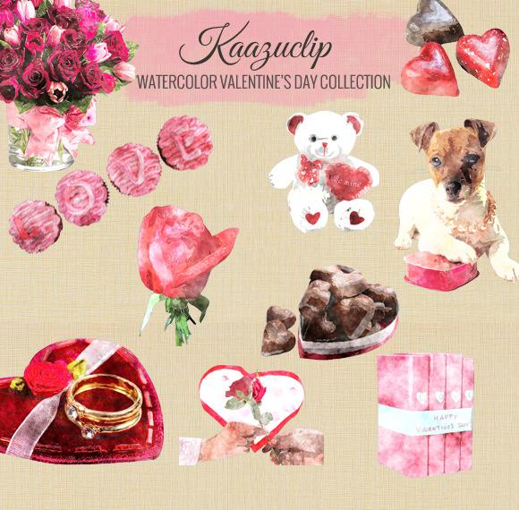Watercolor Valentine S Day