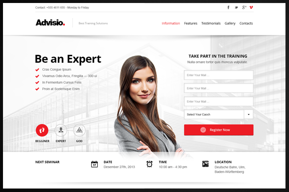 Advisio Marketing Landing Page