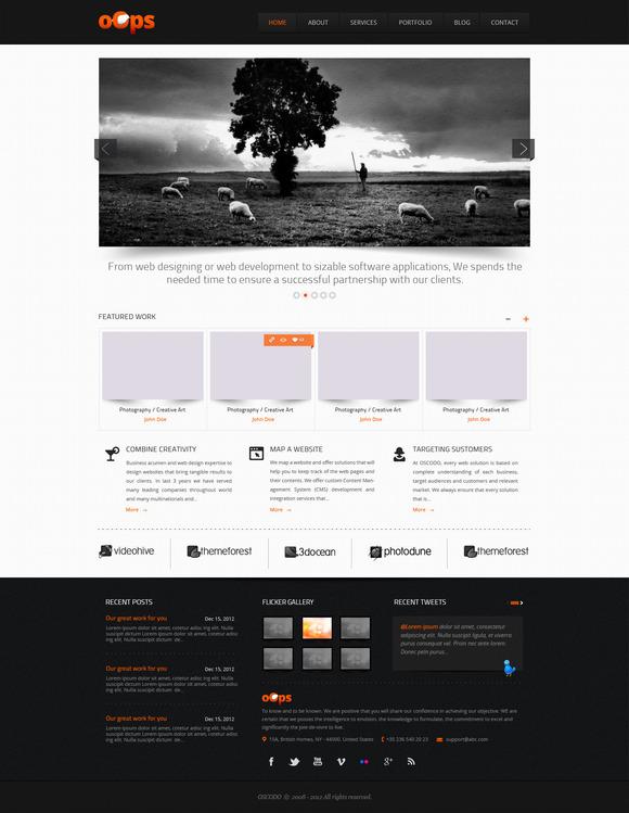 Classic PSD Portfolio Website
