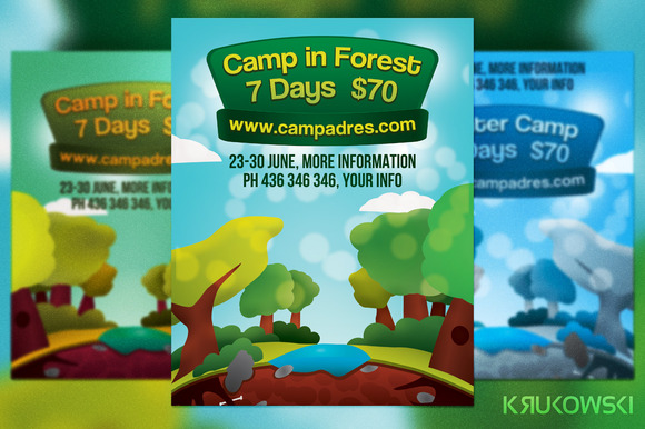 Forest Camp Flyer