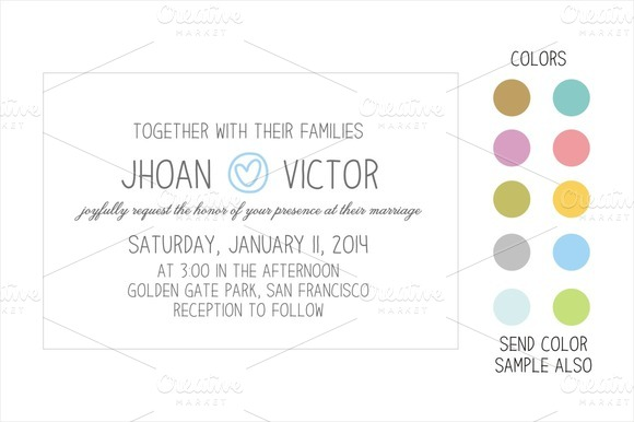Simple Romantic Wedding Invitation
