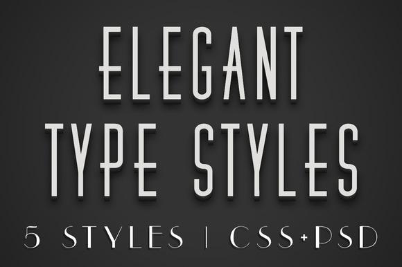 Elegant CSS Type Styles