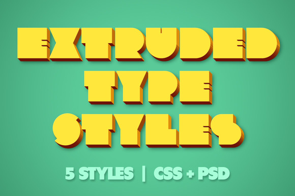Extruded CSS Type Styles