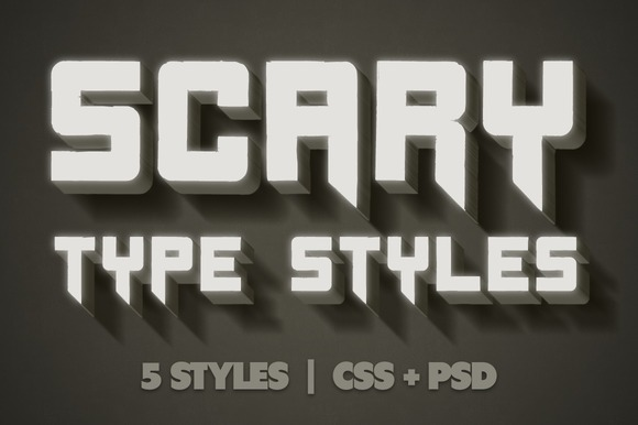 Scary CSS Type Styles